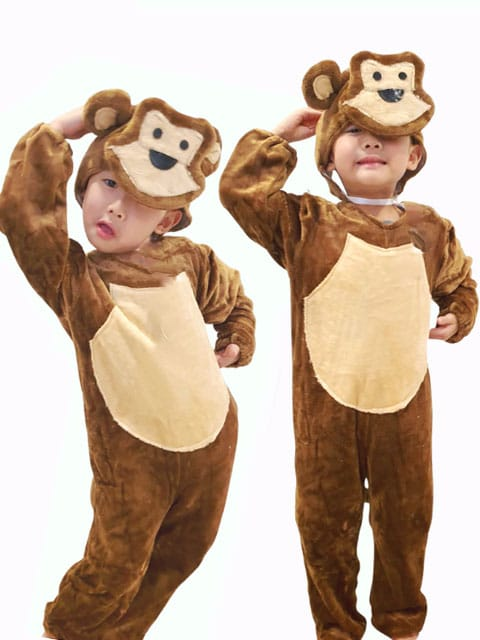 brown monkey costume for children singapore