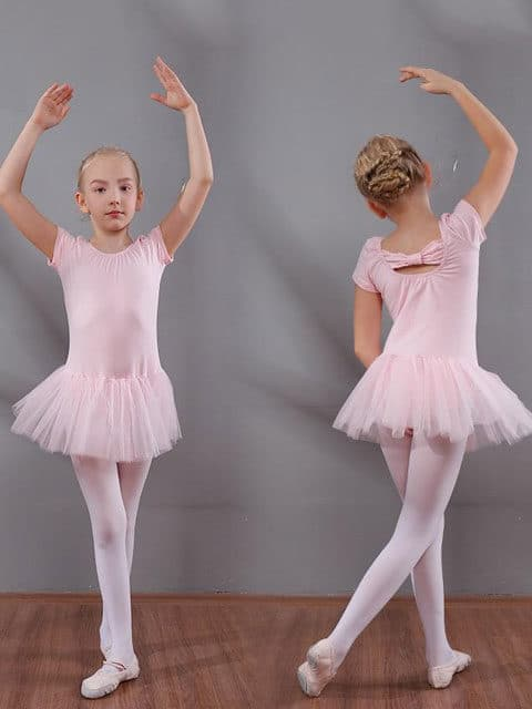 Girls Ballet Dancing Dress Short Sleeve singapore