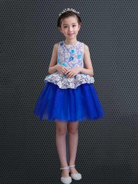 porincess dress blue singapore performance
