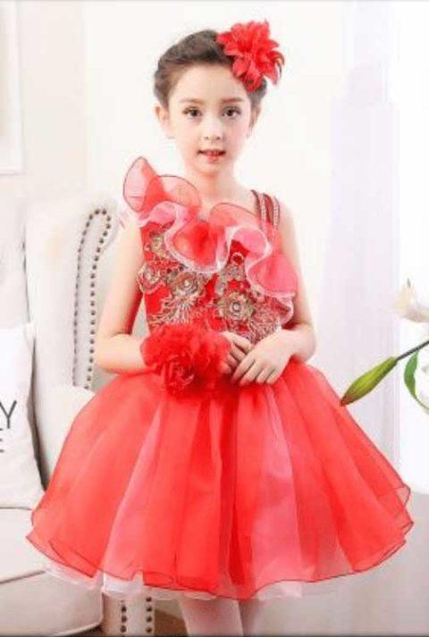 Kids Girl One Piece Children Dress Floral Dress Tutu Skirt