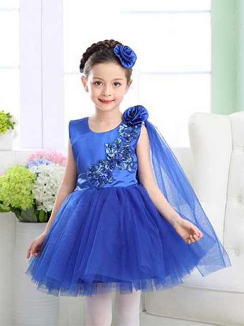Blue Shinny Princess Dress