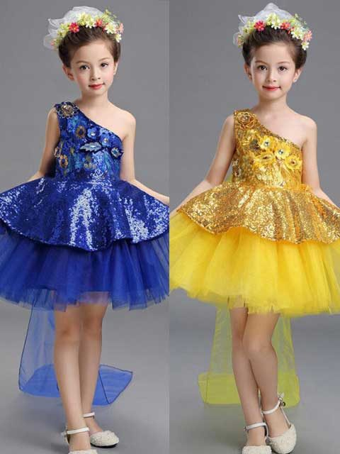 Ballroom dancewear Costumes dress Children Ballet Performance dancing
