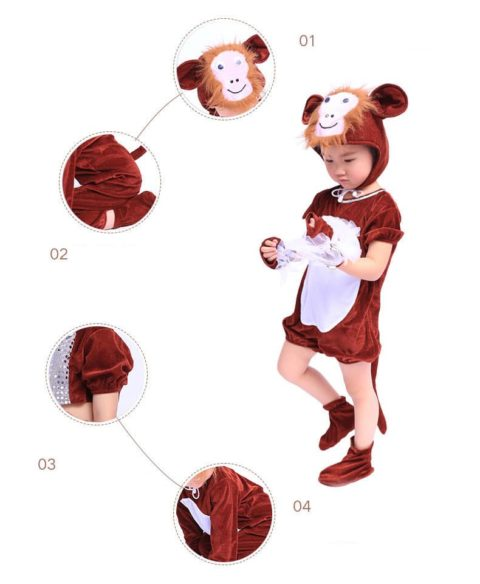 Brown Little Monkey Animal Performance Costumes Singapore