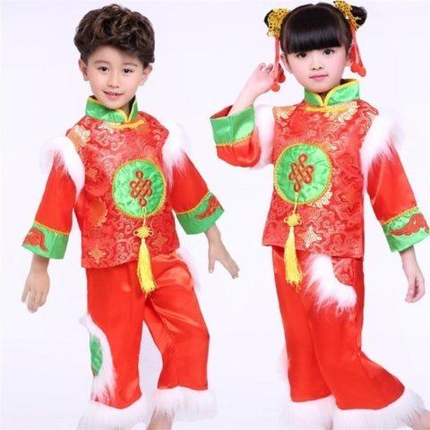 kids winter red lanterns national costume singapore