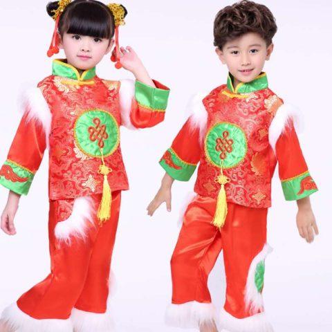 kids winter red lanterns costume singapore