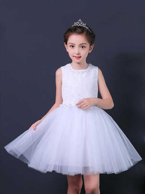 Dance princess performance costume white singapore