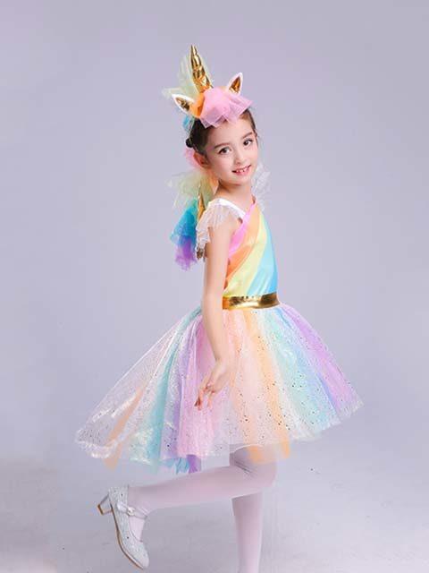 Rainbow Unicorn dress costume for kids singapore