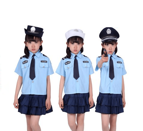 Children's uniforms, small traffic police singapore