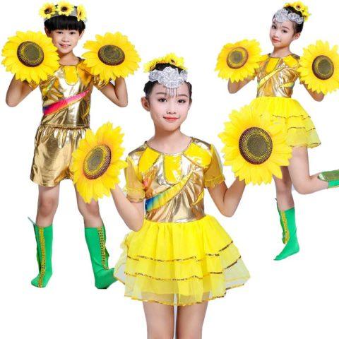 Sunflower Dance Costume for kids singapore