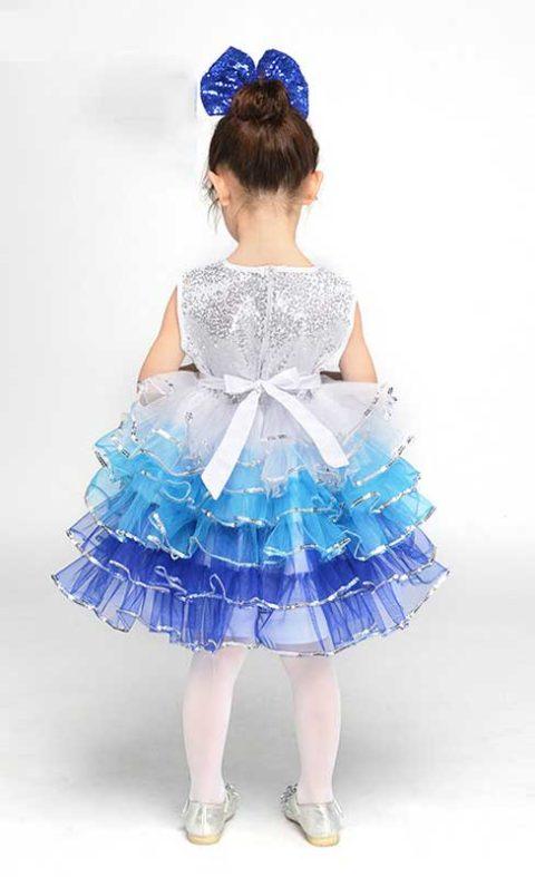 Girls dance dress tutu blue