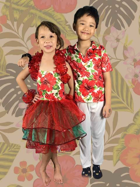 Hawaiian Dance Series costume for kids singapore
