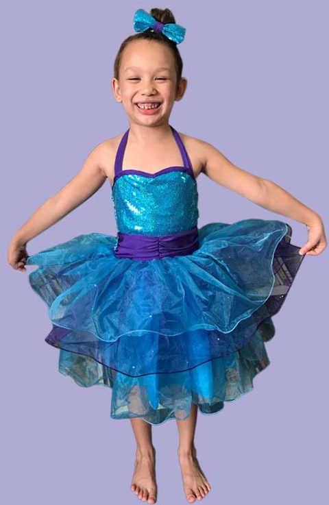 Purple Rain kids shinny dance costume Singapore