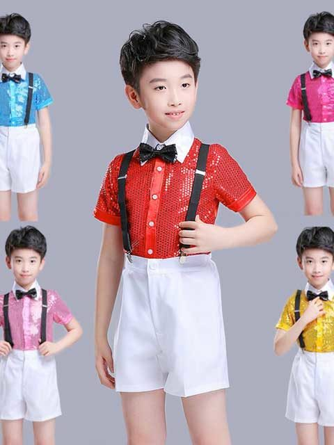 Boys Short Sleeve Sequins set singapore