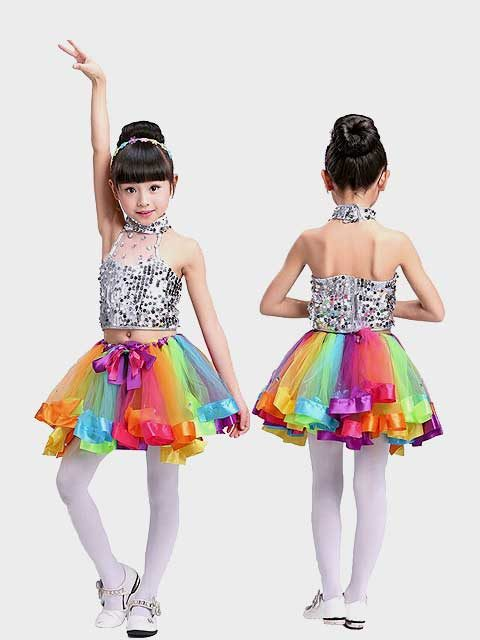 Rainbow Tutu Dance Outfit singapore