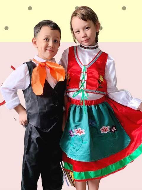 Eurasian Malay Traditional Kids Dress