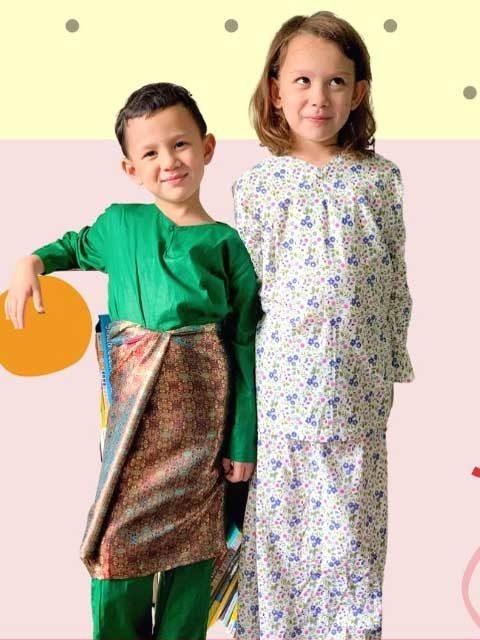 Malay Traditional Kids Dress