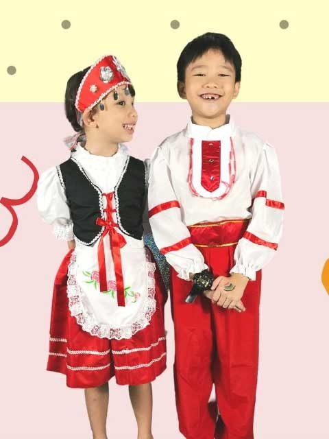 Russian Traditional Kids Dress