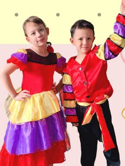 KIDS FLAMENCO DANCER COSTUME singapore