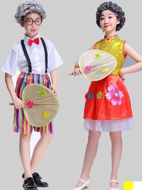 Old people Child Costume Kit