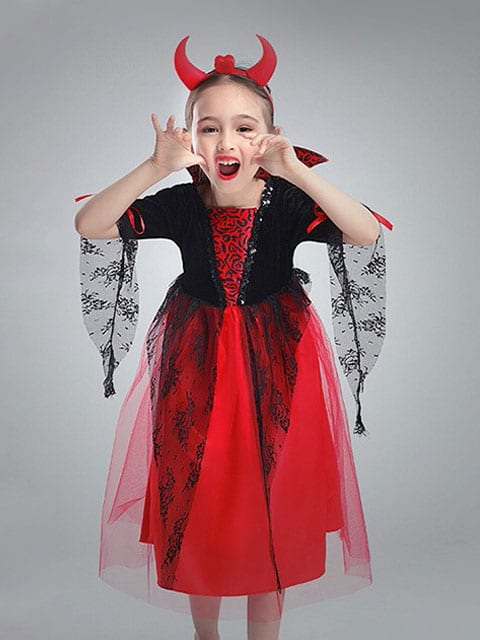 Girl Vampire Costume for kids singapore