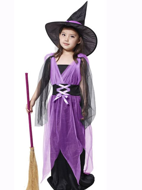Girl Purple Witch costume for kids singapore
