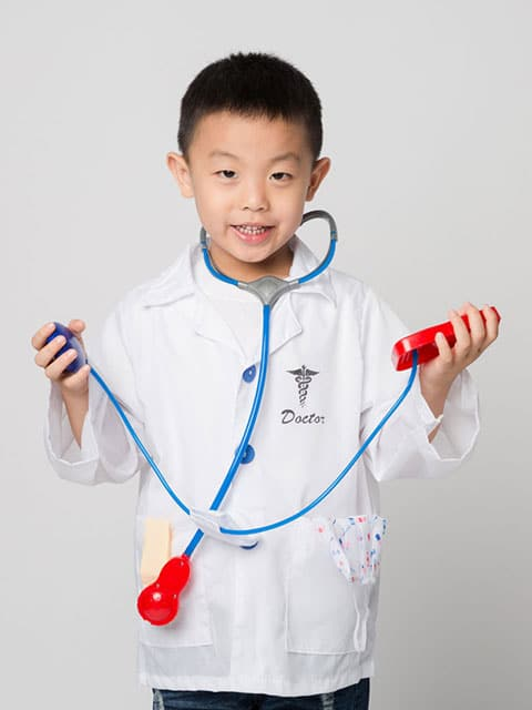 Doctor uniform set costume kids