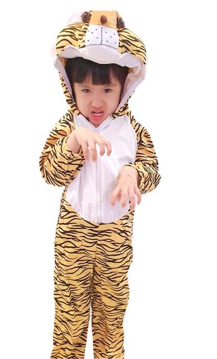 Children Anime tiger top costume singapore