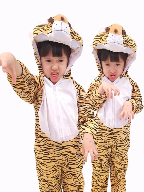 Children Anime tiger top costume singapore