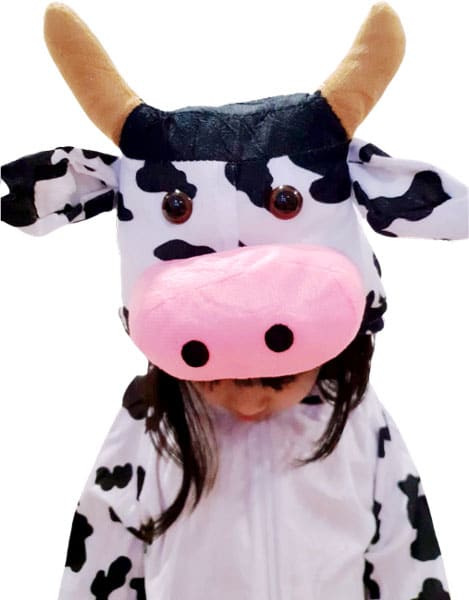 Cutesy Cow costume for children singapore