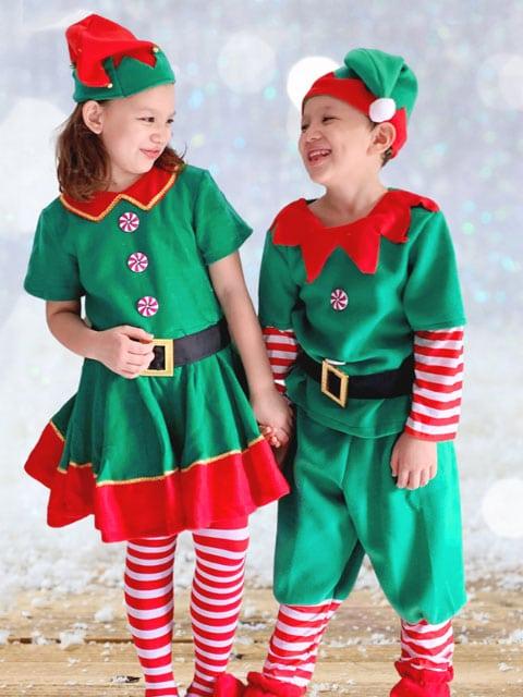 Christmas Elves Costumes for kids