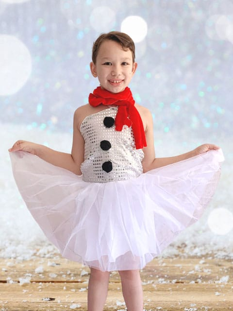 Snowgirl With Scarf dress for girl