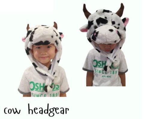 super cute cow headgear Singapore