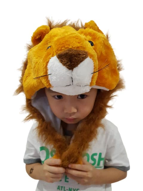 lion headgear plush