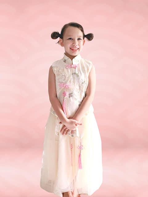 Cream Mei Dress Chinese New Year 2021 Wear Singapore