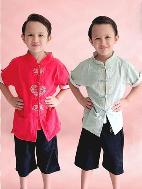 Oriental Boy outfit lunar New Year Singapore