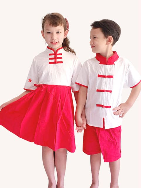 Chinese Red/White wear Singapore