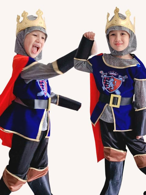 Children Royal Warrior Medieval Knight