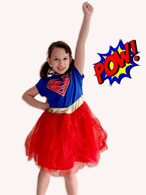 Supergirl Cosplay Costumes Kids singapore