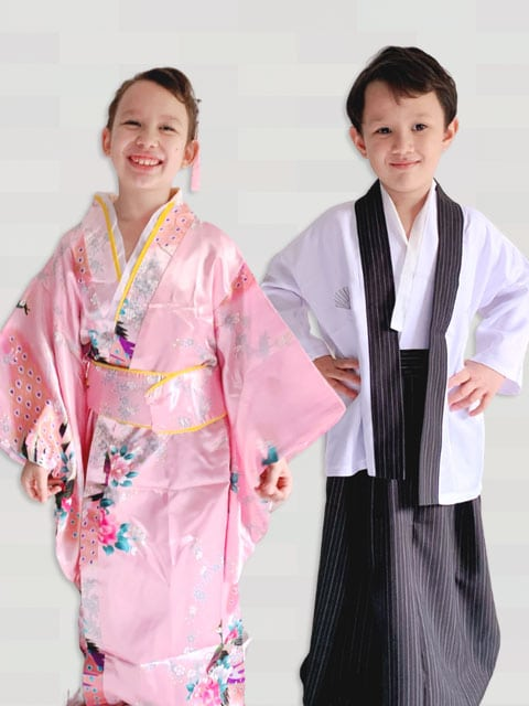 child New japanense traditional
