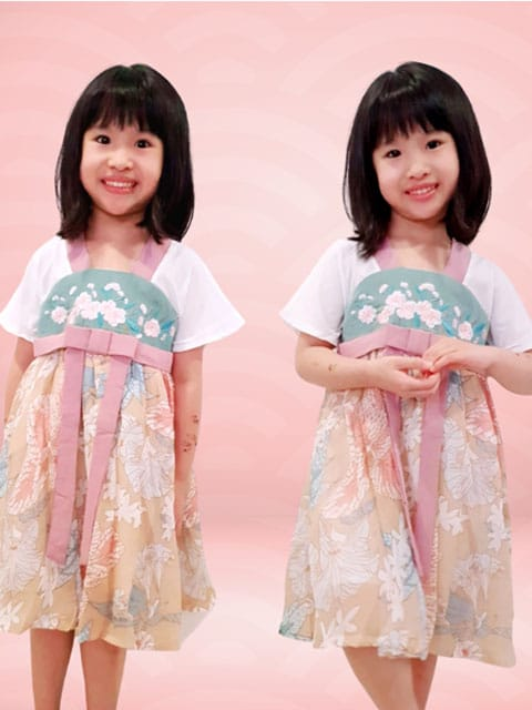 Han Floral dress for lunar New Year