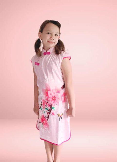 Peony Cheongsam Chinese Traditional dress singapore