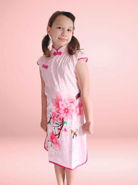 Peony Cheongsam Chinese Traditional dress singapore