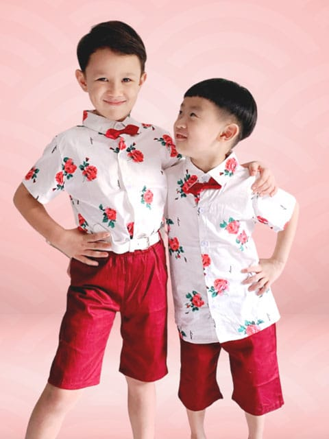 Fleur Boy outfit for lunar New Year 2021