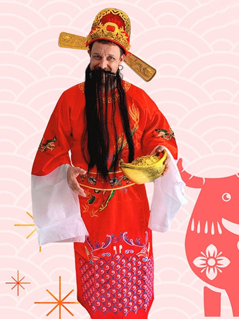 God Of Fortune 财神爷 Adult costume