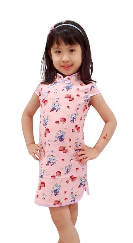 Strawberry Bliss cny dress