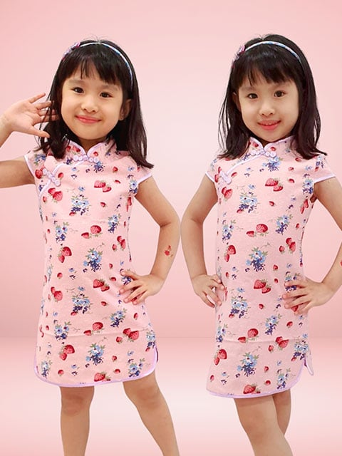 Strawberry Bliss cny dress