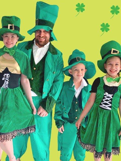 family Saint Patrick costume sets