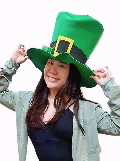 Top Hat for Costume, green irish theme Cosplay Clothing