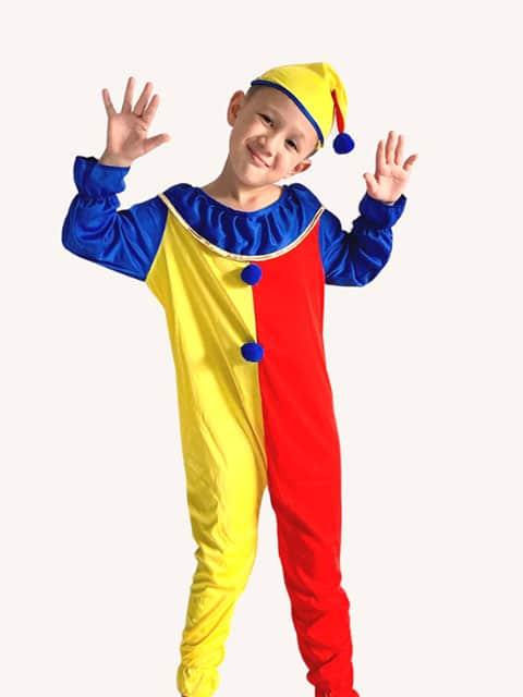 Colour Block Clown costume for Kids