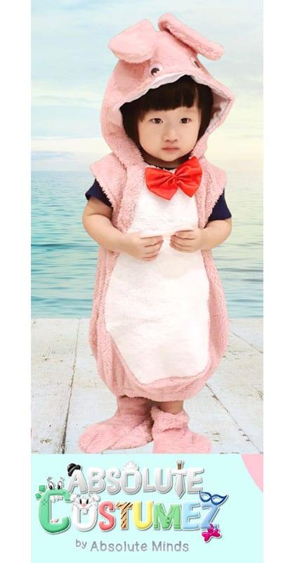 Powder Pink Rabbit Costume